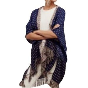 """Free People """"Time After Time"""" Hooded Poncho - OS"""